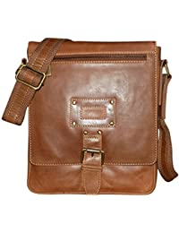 Kan 100% Genuine Leather Crossbody Sling Bag||Messenger Bag||Handbag||Hard Disk Bag||Neck Pouch||Shoulder Bag... - B06ZXT35TP