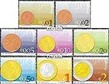 Prophila Collection Portugal 2558-2565 (kompl.Ausg.) 2002 Euro-Einführung (Briefmarken für Sammler) Münze auf Marke