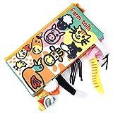 Libri per lo sviluppo del panno morbido per neonati Libri per bambini in primo apprendimento precoce Giochi educativi Attività Libri piega con animali Tails English Learning Story(Animal)