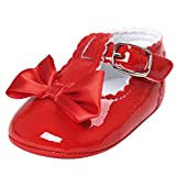 Jamicy Baby Girls Princess Bowknot Design Leather Soft Sole Casual Shoes