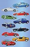 AVERY Zweckform 53752 Kinder Sticker Sportwagen (3D Effekt) 10 Aufkleber