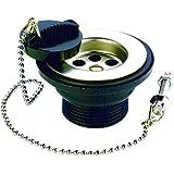Bulk Hardware bh04442lavabo C/W enchufe y cadena 32mm de plástico–blanco (2piezas)