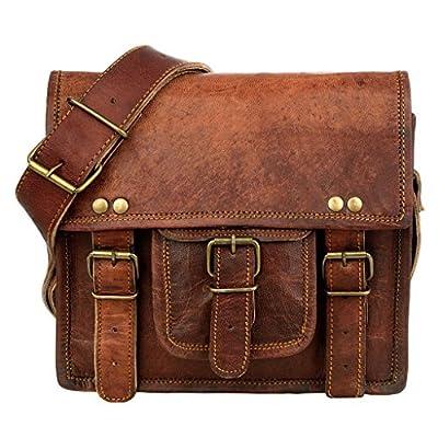 Petite sacoche en cuir marron