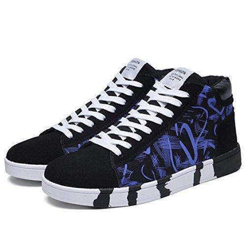 FEIFEI Scarpe da uomo invernali resistenti all'usura alta scarpe casual 3 colori ( Colore : 01 , dimensioni : EU39/UK6/CN39 ) 03