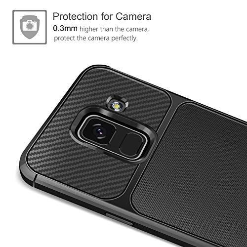 AROYI Coque Samsung Galaxy A8 2018 + Verre trempé écran protecteur, Samsung  A8 2018 Coque Silicone TPU Bumper Etui Housse + Film Protection d Écran en  Verre ... 81e390559b38