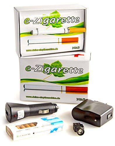 E-Zigarette Elektro Starter-Set mit 0,0mg Nikotin Liquid Akku Verdampfer Elektronische Zigarette USB