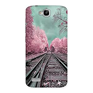Unicovers Train Track Back Case Cover for Honor Holly