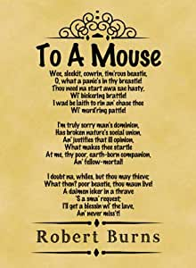 A4 Size Parchment Poster Classic Poem Robert Burns To A