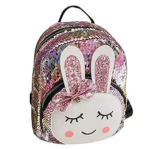 Bolsos de Hombro para niños, para niñas pequeñas Mochila de Dibujos Animados Preciosa con Orejas de Conejo para Uso Diario de Viaje (2-8 años) – Azul Claro