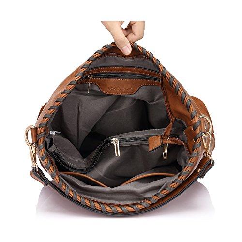 Borse Borsa Hobos Borse a tracolla per donne borsa grande borsa Messenger Messenger Nero