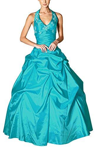 Romantic-Fashion Damen Ballkleid Abendkleid Brautkleid Lang Modell E452 A-Linie Perlen Pailletten DE...