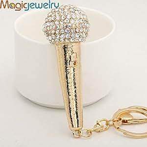 Superior-Coque Strass un adorable Mini Micro Anneau porte-clés en porte-clés en cristal Métal pour Femme Pendentif Breloque de sac