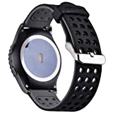 Greatfine Smart Watch Accessori Intercambiabile Cinturini di Ricambio braccialetto sostituzione band per SAMSUNG Classic SM-R732, or Motorola Moto 360 2a Generazione 42 mm Garmin Vivomove Sport / Garmin Vivomove Classic / Huawei Watch 2 (BlackGrey)