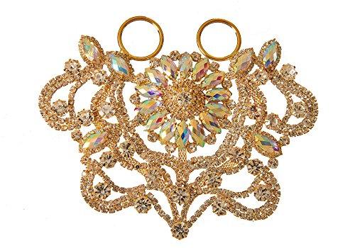 Stil 8790Kristall AB folienbeschichtete® Jeweled Halskette für Hochzeit Kleid & Kostüm Verschönerungen mit Applikation, Größe 13,5x 9cm -