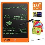 NOBES Tableta de Escritura LCD 10 Inch, LCD Tablero de Dibujo Gráfica, Pizarra Magica para niños, Juguetes Educativo, Mensaje Doodle Pad Electrónico, para Niños, Clase, Oficina, Casa (Orange)