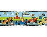 Dandino bordo bambini di auto da corsa con animali, multicolore