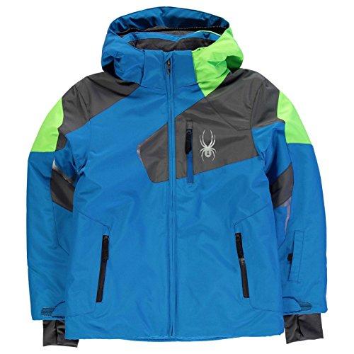 Spyder Kinder Jungen Wheeler Ski Jacke Winter Snowboard Wasserdicht Atmungsaktiv Blau/Grey 20 (2XLB)