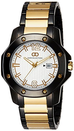 Gio Collection Analog White Dial Men's Watch - G1004-55