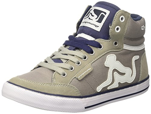 DrunknMunky Boston Classic, Scarpe da Tennis Uomo Grigio (Dark Grey/Navy)