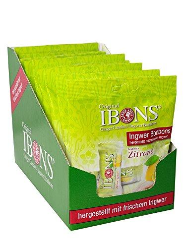 IBONS Kaubonbons 10 x 92 g (Ingwer-Zitrone)