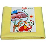 OYO Baby - Baby Dry Sheet For New Born Babies | Infant Waterproof Bed Protector Sheet For Baby | Mattress Pads (Medium-(100cm X 70cm), Lemon)
