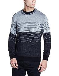 Wrangler Mens Cotton Sweater (8907649215852_W248685DH44C_XXL_Grey+Black)