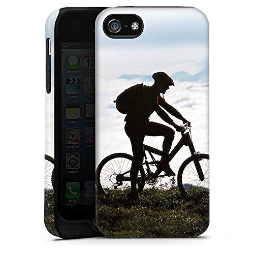 Apple iPhone X Silikon Hülle Case Schutzhülle Fahrrad Mountainbike Natur Tough Case matt