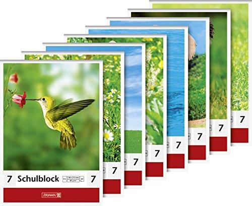 Baier & Schneider–Cuaderno de animales, kopfverleimt, 8cm de perforación, 80g/m², A5, Karie