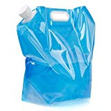 Jwqidi 5L Folding Drinking Water Container Water Storage Bag for Outdoor Camping Hiking Picnic BBQ -- Blue