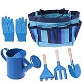 BESTOMZ Gartenwerkzeug Set, Gartenarbeit Handwerkzeuge Set, mit Gartenhandschuhen und Werkzeugtasche, Garten Geschenke Gartenzubehör Edelstahl