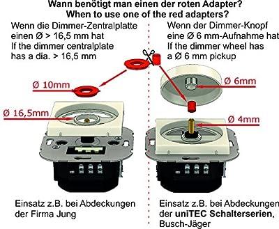 Unitec LED-Dimmer, UNIVERSAL für Schalterserien von Unitec, Busch-Jäger, Jung und Gira