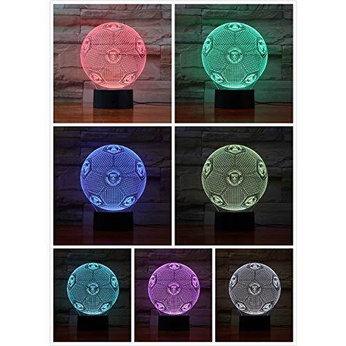 ll 3D Lampe Dekor Zimmer dekorative Lampe Kinder Kit deutschen Fußball FC LED Nachtlicht ()