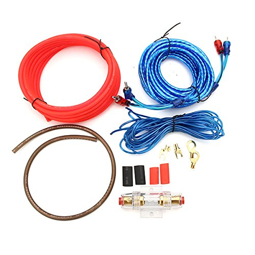 Viviance 1500W 8Ga Car Audio Subwoofer Verstärker Amp Verkabelung Sicherungshalter Draht Kabel Kit