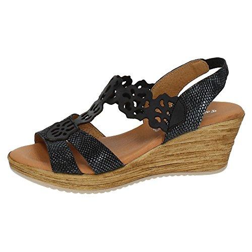 ZAPATOP ,  Damen Sandalen , schwarz - Schwarz - Größe: 36