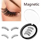 Qivange Augenpinsel Set Makeup Bürsten set mit Beutel(12pcs rosa mit Rose Gold) (Magnetische Falsche Wimpern N)