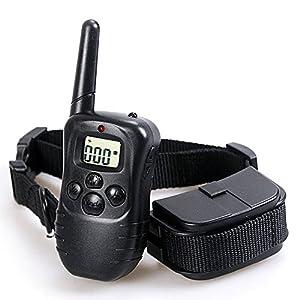 Collier de dressage pour chien avec télécommande avec batterie Pet formation collier électrique pour chien 300m Gamme avec écran LCD 100LV Choc Collier de dressage