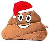 haufi® Santa Emoji Coussin avec bonnet de Père Noël Xmas Smiley kackh aufen | Poop émoticône Gadget Jouet Peluche...
