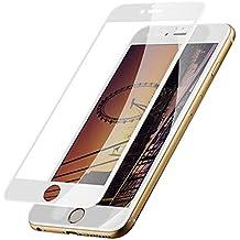 "Protector de Pantalla iPhone 6/6s Plus Cobertura Completa,SKYEARMAN 0.26mm 3D-Curve 9H Vidrio Templado Anti-reflejo Anti-rayado Screen Protector para Apple 6Plus,5.5"",Blanco"