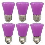6er E27 Lila Glühlampen Lampe Farbig Birne Beleuchtung Glühbirne Bunt Dekoration Leuchtmittel Für Partybeleuchtung Biergartenbeleuchtung