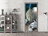 GRAZDesign 791589_67x213 Tür-Bild Spruch Entspannen. | Aufkleber für Wohnzimmer/Bad | Türfolie Selbstklebend (67x213cm//Cuttermesser)
