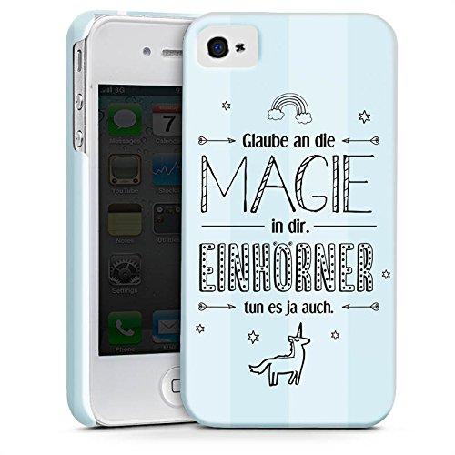 Apple iPhone X Silikon Hülle Case Schutzhülle Einhorn Magie Spruch Premium Case glänzend
