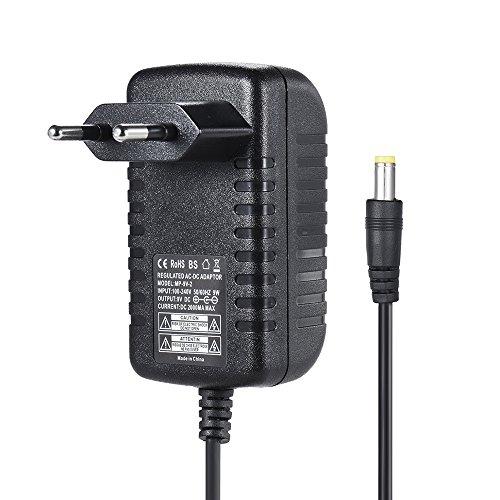 ammoon 9V 2A Netzteil-Adapter-Konverter für Gitarre Bass Effect 100 ~ 240V Eingang EU-Stecker