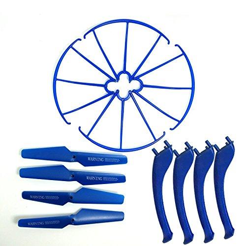 KidsHobby® Upgraded 4 Farben Syma X5SC X5SW Ersatzteil-Hauptblatt-Propeller und Propeller Schützer Blades Frame & Landing Skid inklusive - 4