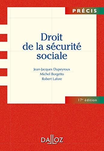Droit de la sécurite sociale - 17e éd.: Précis