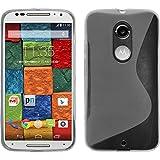 PhoneNatic Custodia Compatibile con Motorola Moto X 2014 2. Gen. Cover Trasparente S-Style Moto X 2014 2. Gen. in Silicone + Pellicola Protettiva