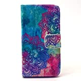 iGrelem® iPhone 4 4S Leather Case, PU Leather Wallet Case [with Stand