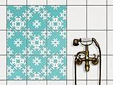 creatisto Fliesen-Sticker Aufkleber Folie selbstklebend | Fliesenspiegel Dekorationssticker Bad renovieren Küche Bad Ideen | 20x25 cm Design Motiv Endless Flake - 9 Stück
