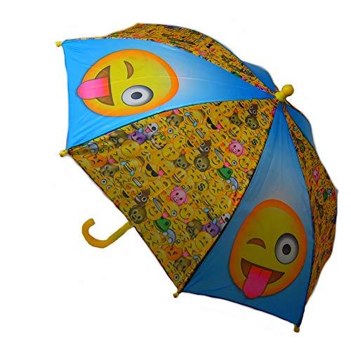 GUIZMAX Paraguas Smiley Niño Disney Emoji