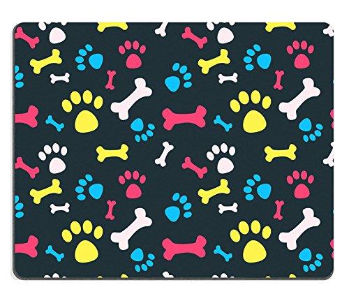 Liili Mauspad Naturkautschuk Mousepad Bild-ID: 23228949Cool Pet Hintergrund mit Hund Paw Prints und Knochen Vector Nahtlose Textur