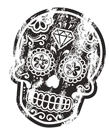 Distressed color negro envejecido del Día de los muertos...